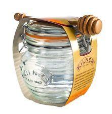 KILNER  sklenice s klipem na med + dipper 0,4l