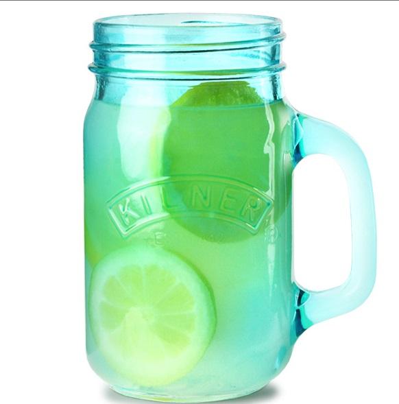 Kilner sklenice s uchem zelená 0,4 l