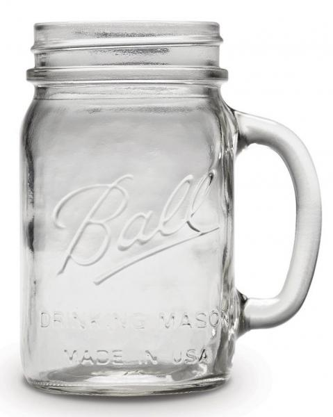 Ball Drinking Jar Regular sklenice s uchem  475ml