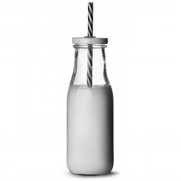 Milk láhev s víčkem a brčkem 450ml