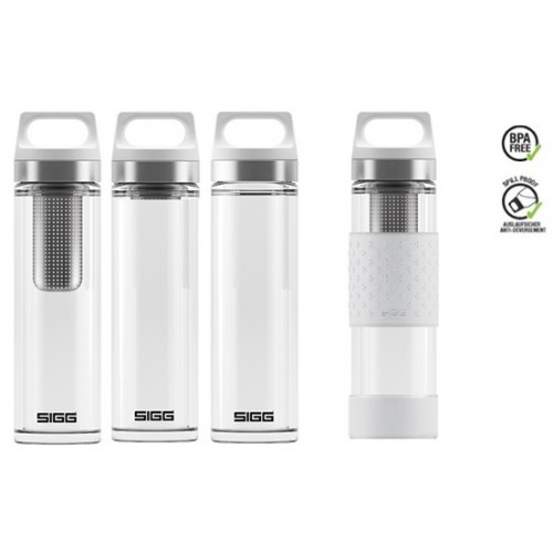 SIGG termoska hot & cold glass 0,4l bílá