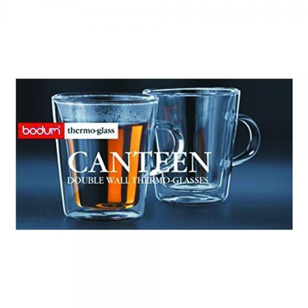 BODUM Canteen dvoustěnný skleněný hrnek set 2ks, 0,2l