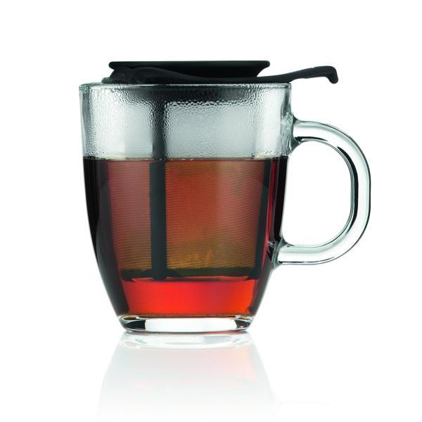 BODUM YO-YO Hrnek na čaj se sítkem 0,35 l černý