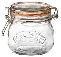 KILNER zavařovací sklenice s klipem 0,5l kulatá