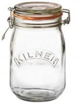 KILNER zavařovací sklenice s klipem 1 l kulatá