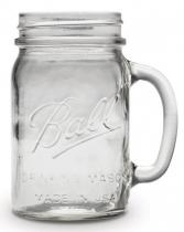 Sklenice Ball Drinking Jar Regular s uchem  475ml
