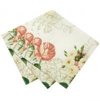 Květinové papírové ubrousky
