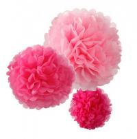 Pompom mix růžový