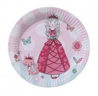 Papírové talíře Princezna