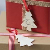 Jmenovka na dárky - Visačka Vánoční stromeček