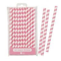Papírová brčka XXL Jumbo Pink