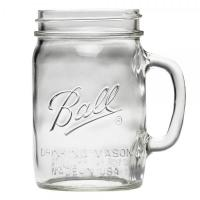 Sklenice Ball Drinking Jar Regular s uchem 650 ml