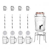 KILNER set Vintage nápojový automat a 8 sklenice