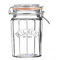 KILNER sklenice s klipem fasetový design 0,95l