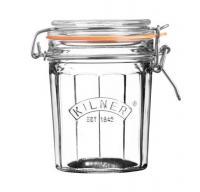 KILNER sklenice s klipem fasetový design 0,45l